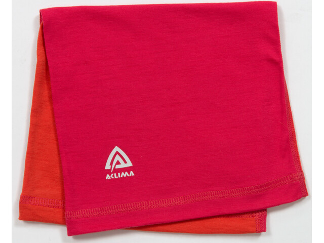 Aclima LightWool Headover Children Raspberry/Poinciana